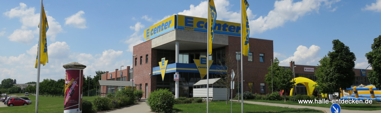 E-Center in der Silberhöhe in Halle (Saale)