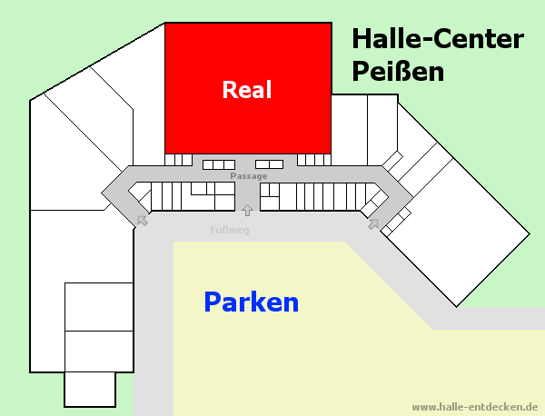 Real Supermarkt im Halle-Center Peißen