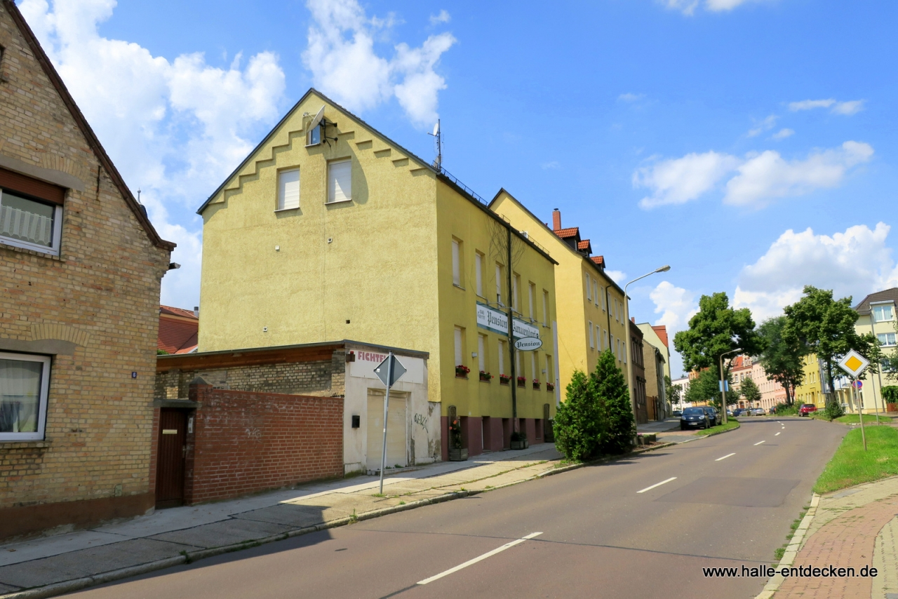 Pension Ammendorf in der Georgi-Dimitroff-Straße in Halle (Saale)